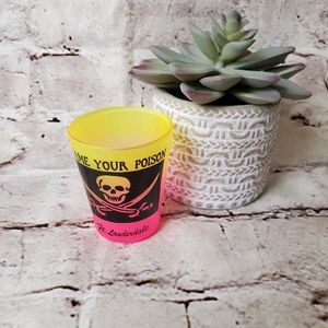 Ft Lauderdale Shot Glass Ombre Neon Pink Yellow